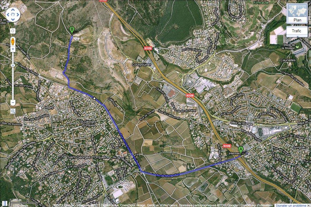 Itinéraire par A75 (sortie 64)